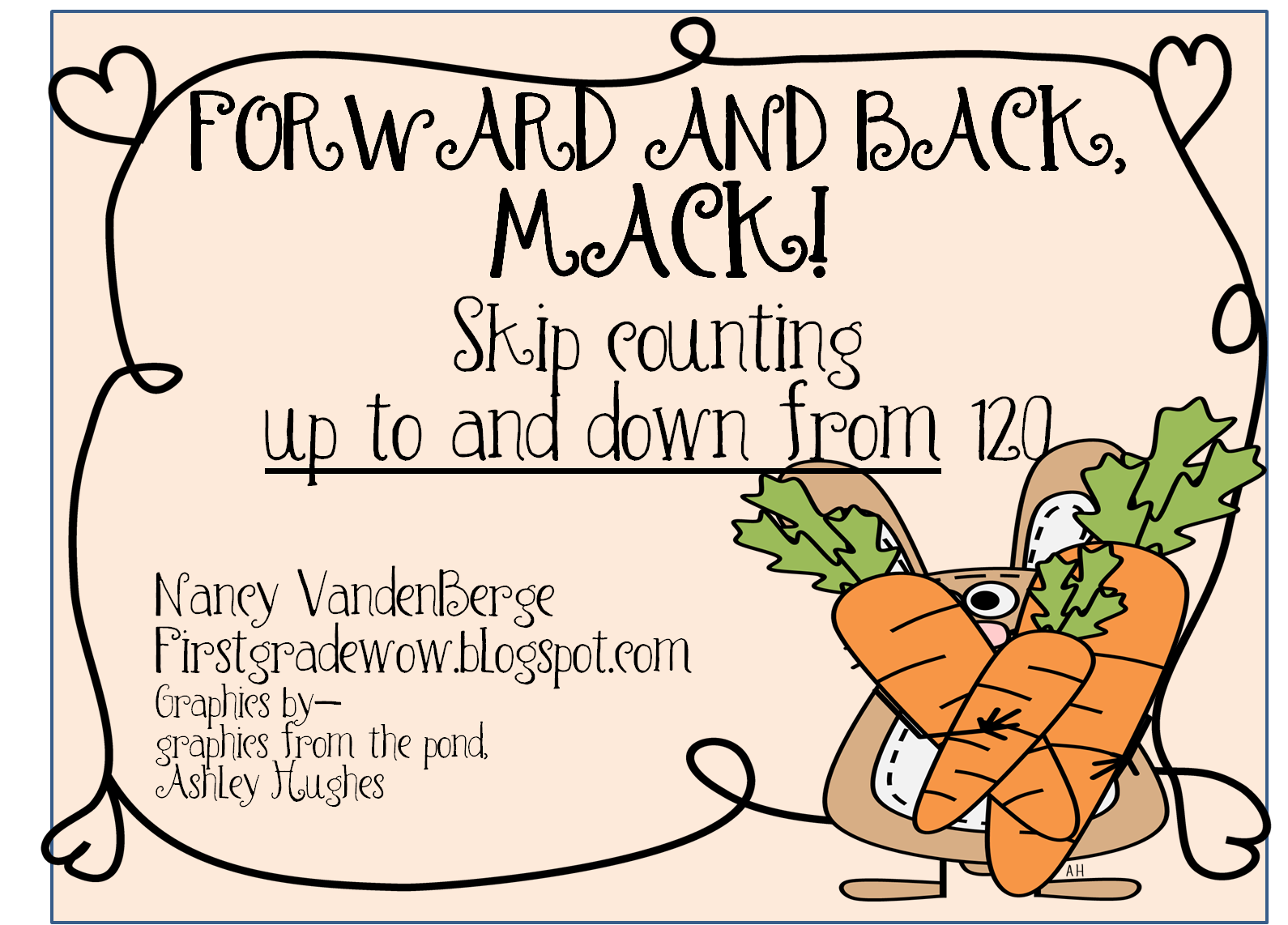 First grade wow forward and back skip counting to and from 120 for your free 21 page skip counting printable pack click here sciox Image collections