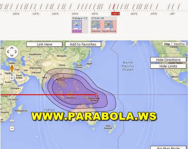 satelit parabola beam Indonesia jcsat 1b c band