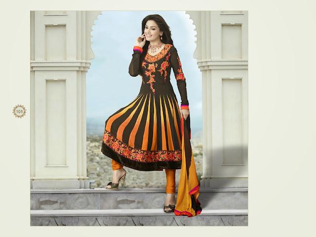 Fancy Resham Embroidered Anarkali Salwar Suits