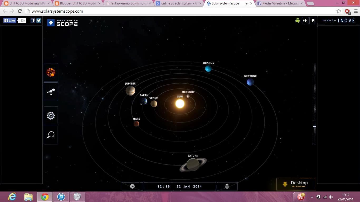 online 3d solar system explore - photo #2