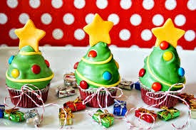 Christmas Cupcakes with icing and decorations for business gifts