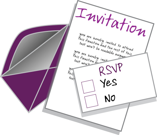 Practically at home why do hosts ask party guests to rsvp for What does regrets only mean