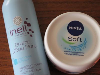 produits terminés brume eau inell nivea soft avène