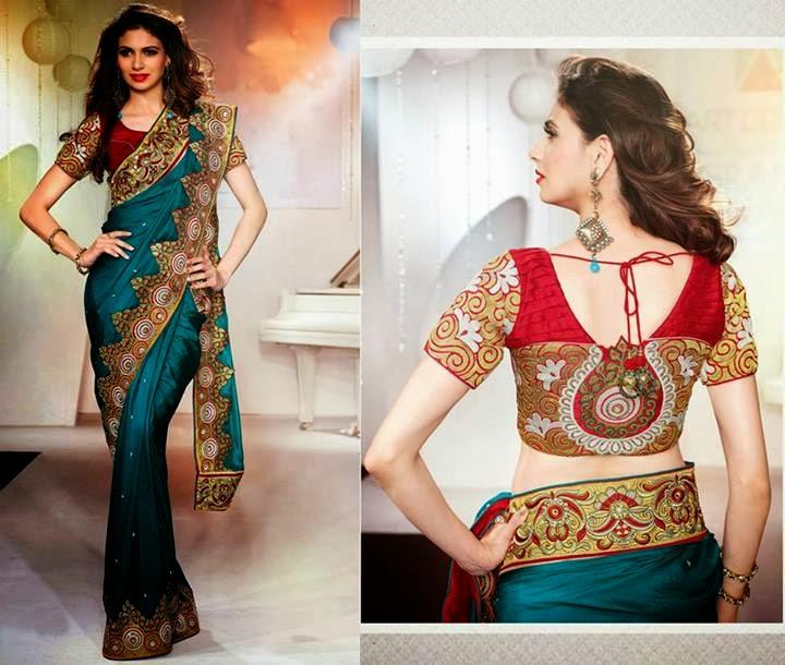 saree blouse back neck designs 20142015 blouse neckline