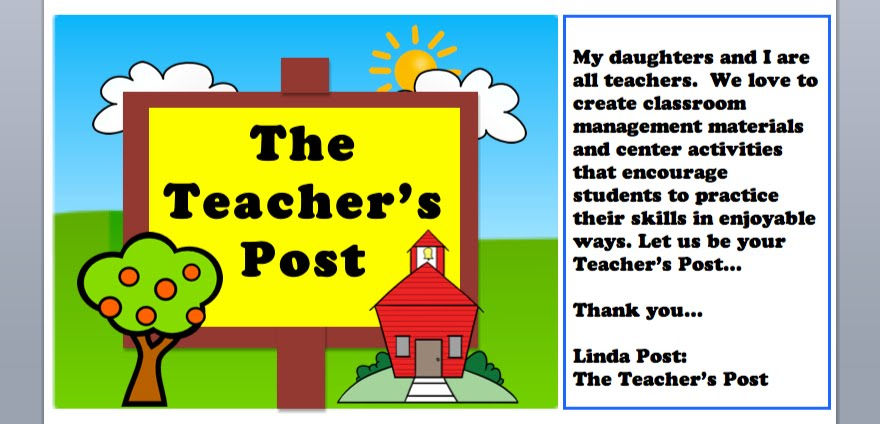Linda Post:  The Teacher&#39;s Post