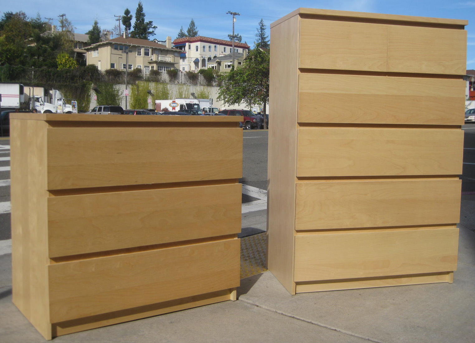 SOLD   Pair of Ikea Chests of Drawers. UHURU FURNITURE  amp  COLLECTIBLES  SOLD   Pair of Ikea Chests of Drawers