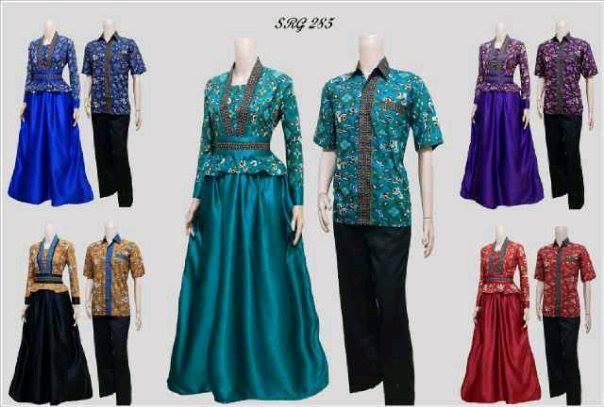 Seragam Sepasang Baju Gamis Batik Couple  Baju Batik Modern Dan