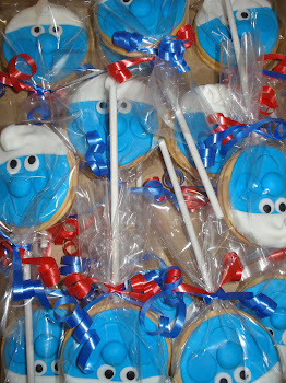 Smurf Marie Lollies