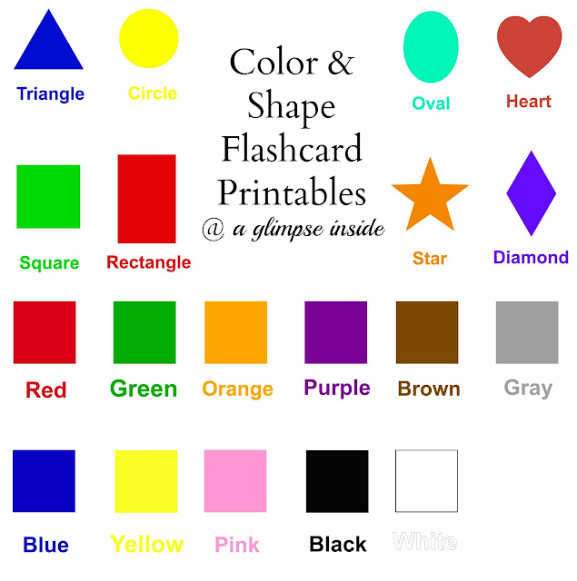 http://www.aglimpseinsideblog.com/2013/08/color-and-shape-flashcard-printables.html