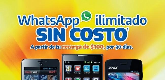 WhatsApp ilimitado en Telcel en recargas a partir de $100, Facebook y WhatsApp ilimitado en recargas apartil de $200 Enterate