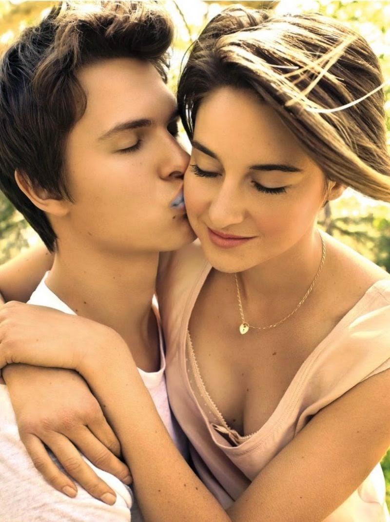 Ansel Elgort kissing Shailene Woodley