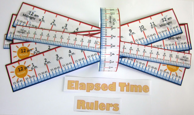 Elapsed Time Rulers for math