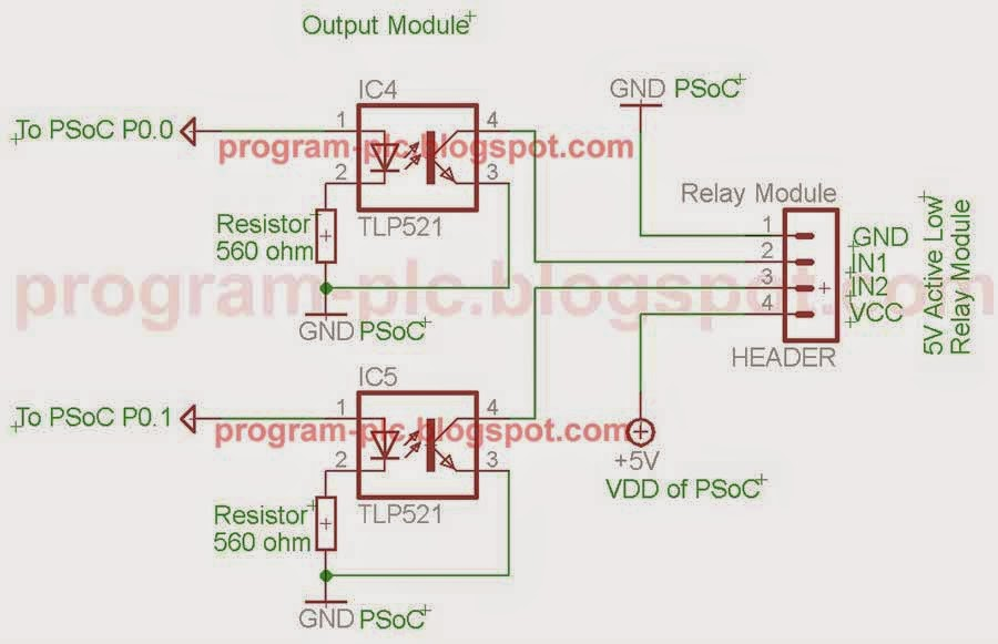 Output module of bulid a very cheap PLC
