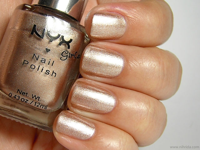 NYX Girls Nail Polish in Beige on Caffeine