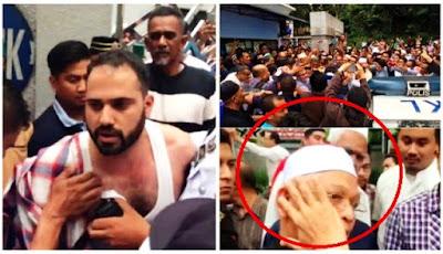 Rakaman CCTV Lelaki Arab tampar Imam Masjid Negara