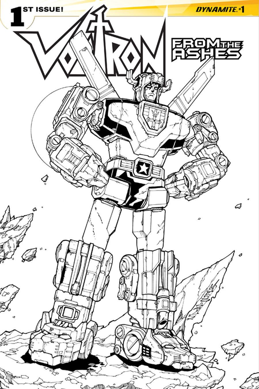 Collecting toyz dynamite announces new york comic con for Voltron coloring pages free