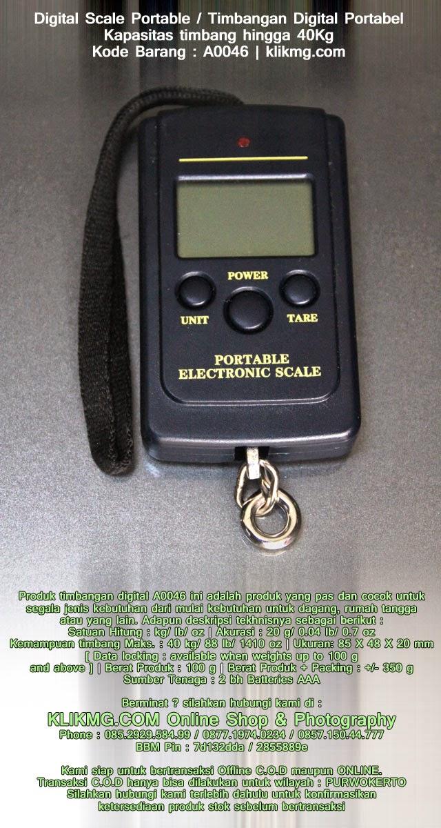 Digital Scale Portable / Timbangan Digital Portabel Kapasitas timbang hingga 40Kg - Kode Barang : A0046