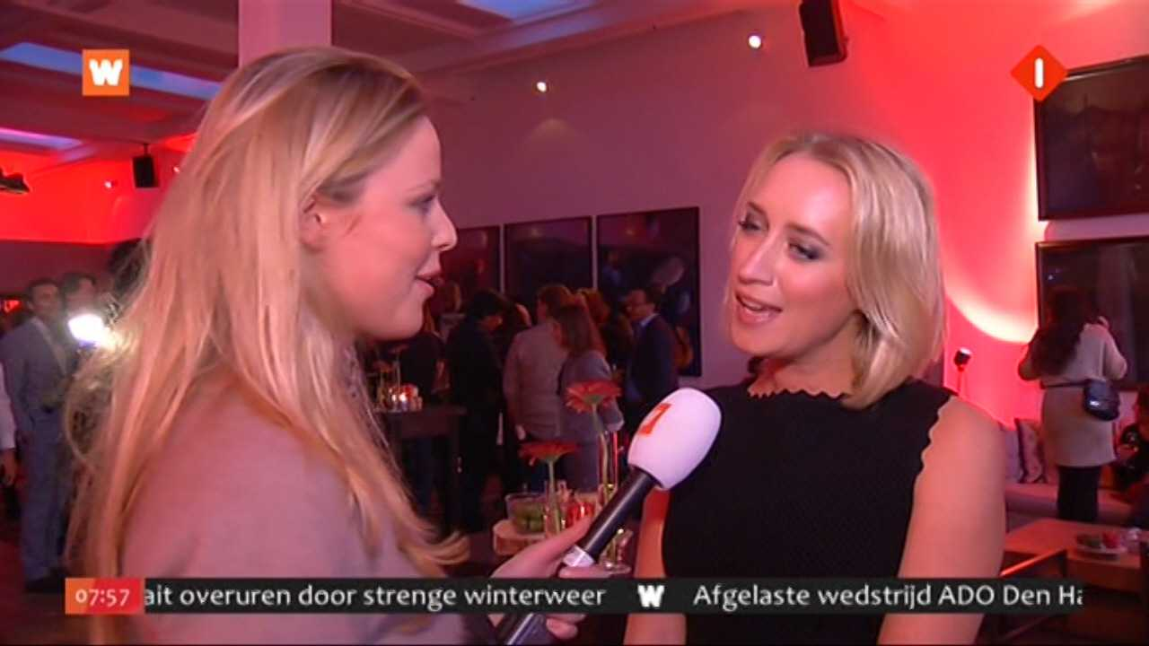 Celine Huijsmans interviewt Eva Jinek op Marie Claire party 2012