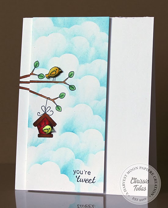 Tweet Talk Birdhouse card by Chrissie Tobas for Newton's Nook Designs