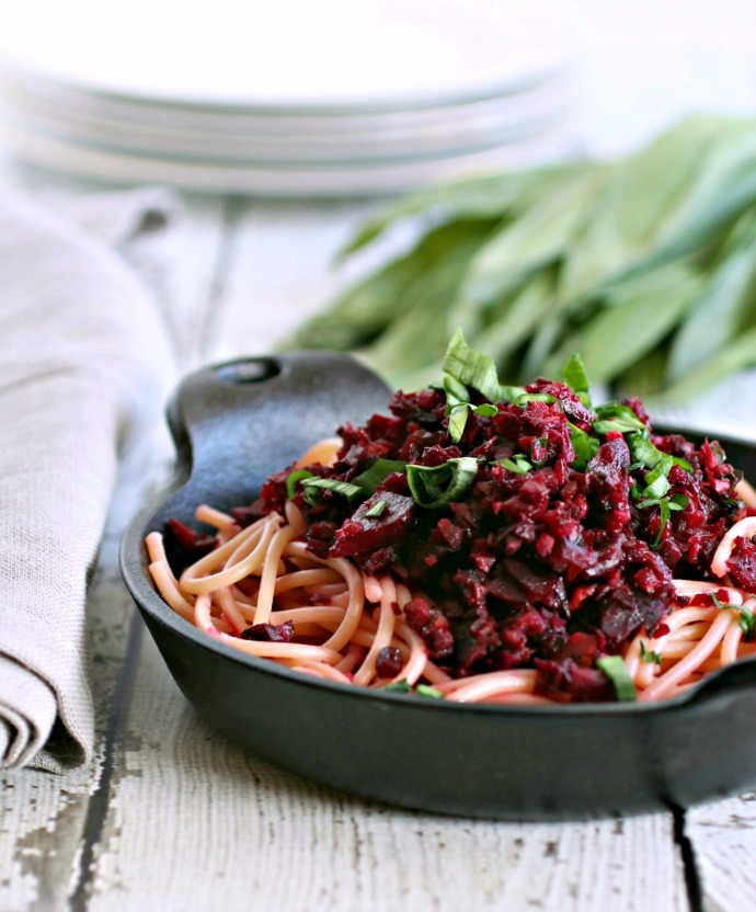 Pasta with Jeweled Beets