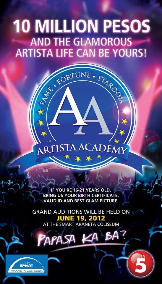 TV5 Artista Academy (Audition Schedule)