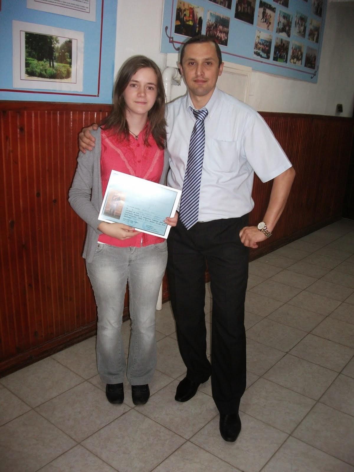 "Mihaela Popa, locul I la Simpozionul judeţean ""Gheorghe Ruset Roznovanu"", ed. a II-a (23 mai 2014)"