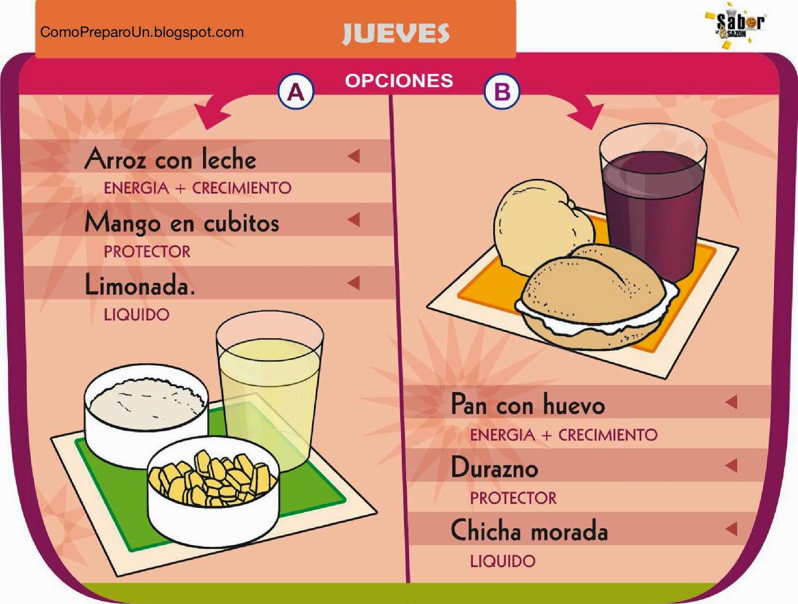 LONCHERAS NUTRITIVAS Y SALUDABLES PARA NIÑOS - Jueves