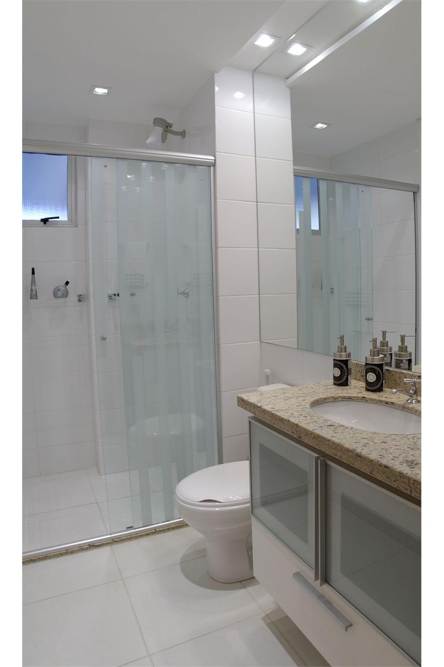 Eu moraria aqui 19 banheiros pequenos  dos mais simples aos rebuscados! -> Banheiros Modernos Atuais