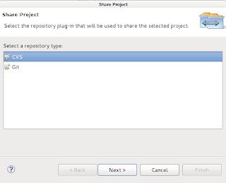Choosing repository type