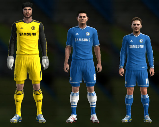 PES 2013 Chelsea 13 14 Kit Set by TheNamesJER