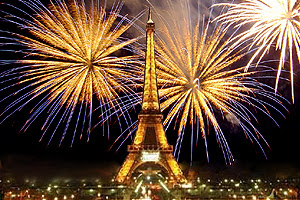 Ano novo em Paris (França)