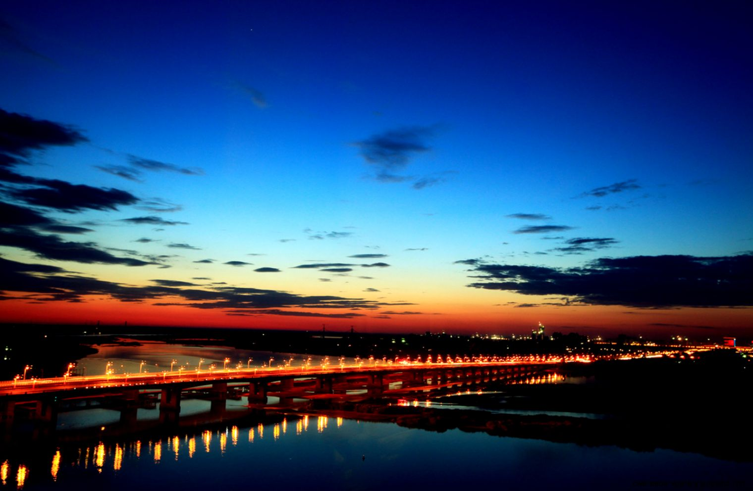 Beidaihe Bridge beautiful night 50794   Wallpapers landscape