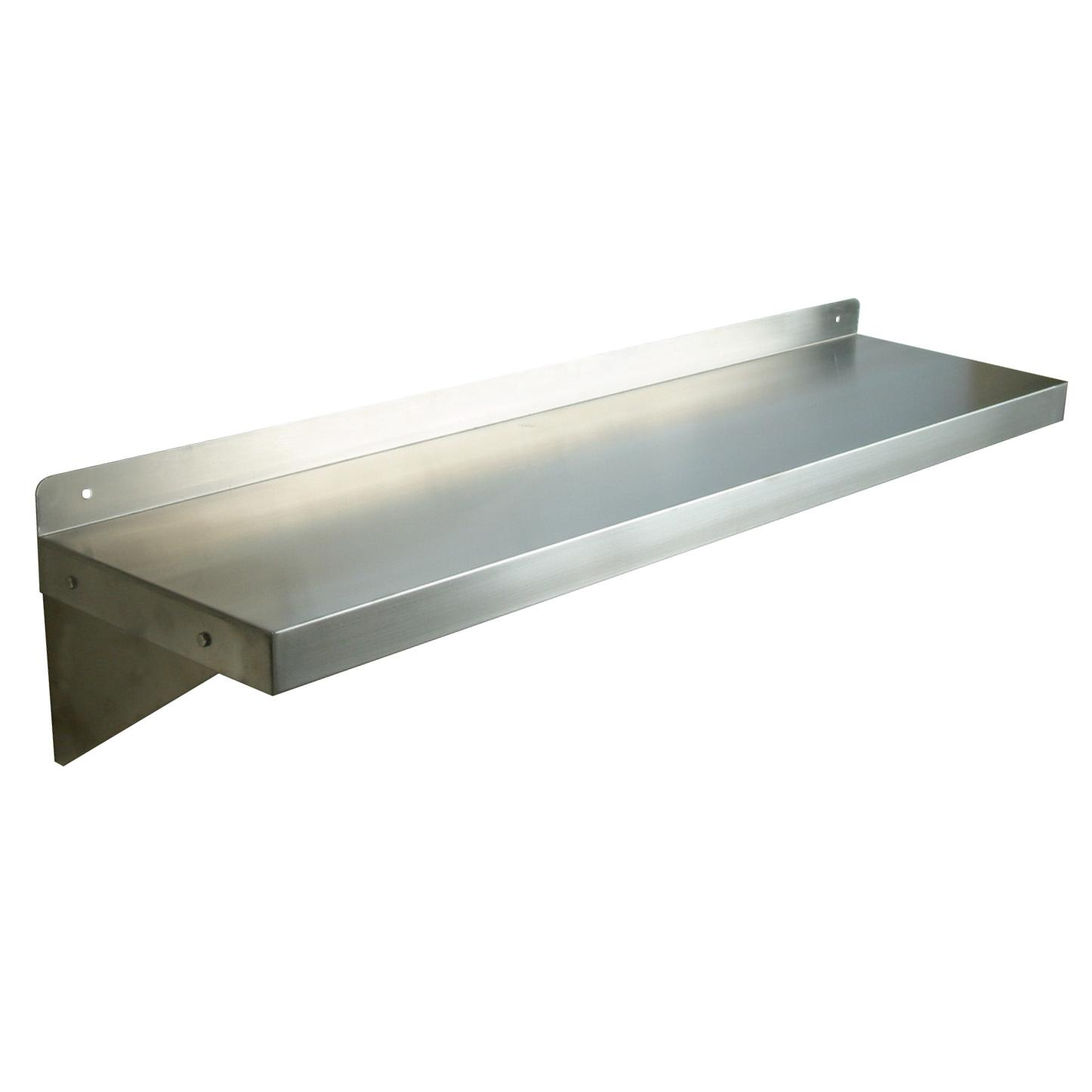 Stainless steel shelves wall mount - Wall metal shelf ...