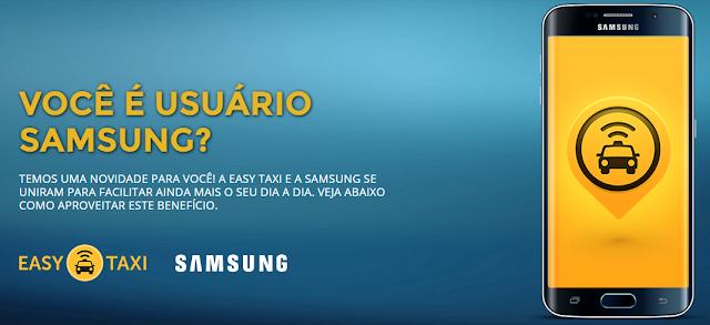 Easy Taxi e Samsung firmam parceria