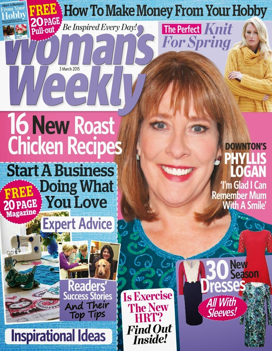 Actress @ Phyllis Logan - Woman's Weekly, March 2015