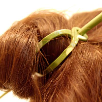 polymer clay hair slides