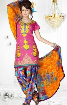Latest Patiala Salwars Collection 2014
