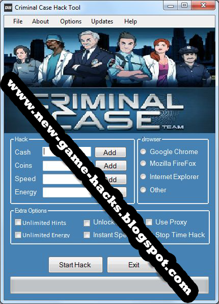 Criminal Case Cheat/Hack/Trainer Tool Engine (Generator Coins, Cash, Energy, Hint) – Full Hack Download 2013