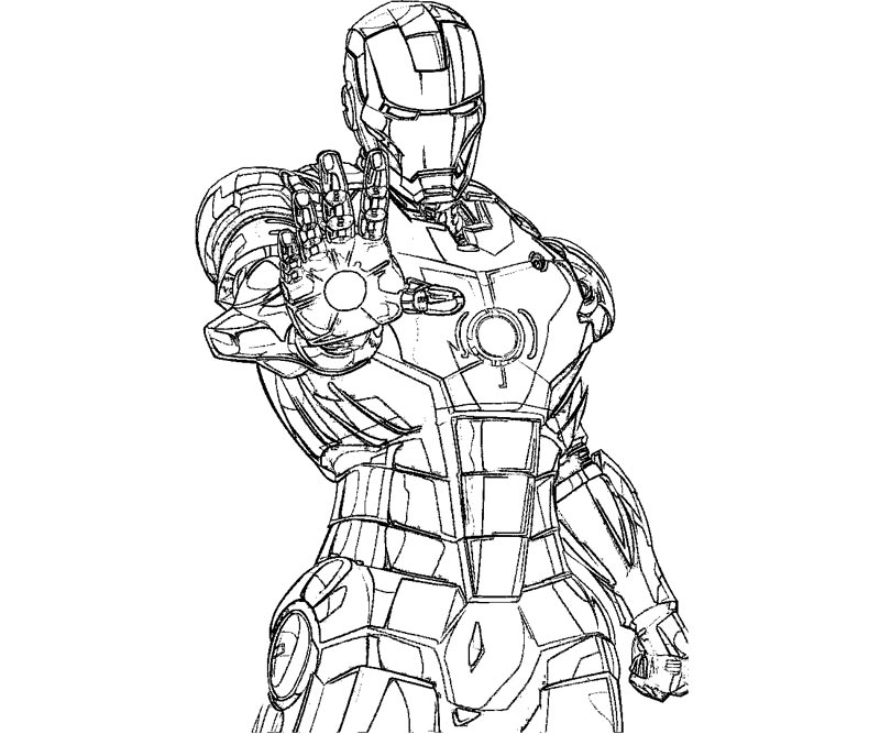 Iron Man Mark  Coloring Pages #6
