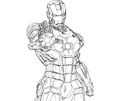 #9 Iron Man Coloring Page