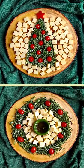 Sugestão para as festas de fim de ano: duas apresentações criativas para um aperitivo natalino