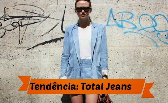 Tendência: Total jeans