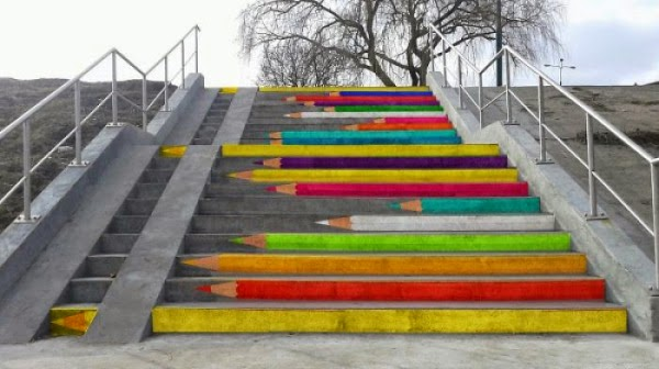 Poznan, Poland - color stairs design