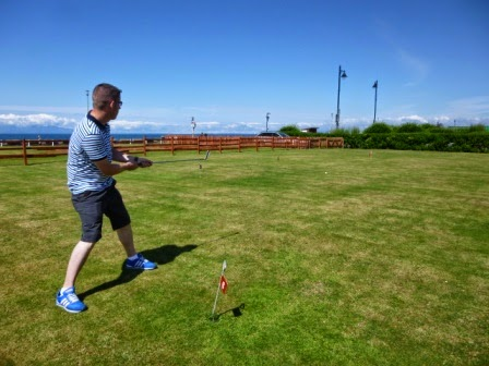 Miniature Golf Putting course on Ayr Seafront