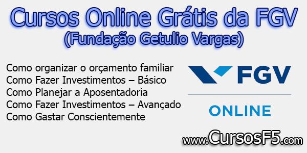 Cursos Online Grátis da FGV (Fundação Getulio Vargas)