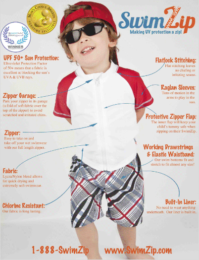 SwimZip UV Protection Swimsuits