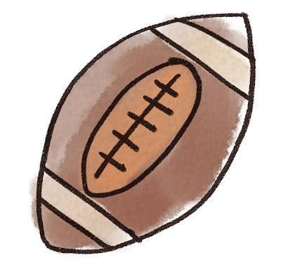 アメリカンフットボールのイラスト(スポーツ器具)