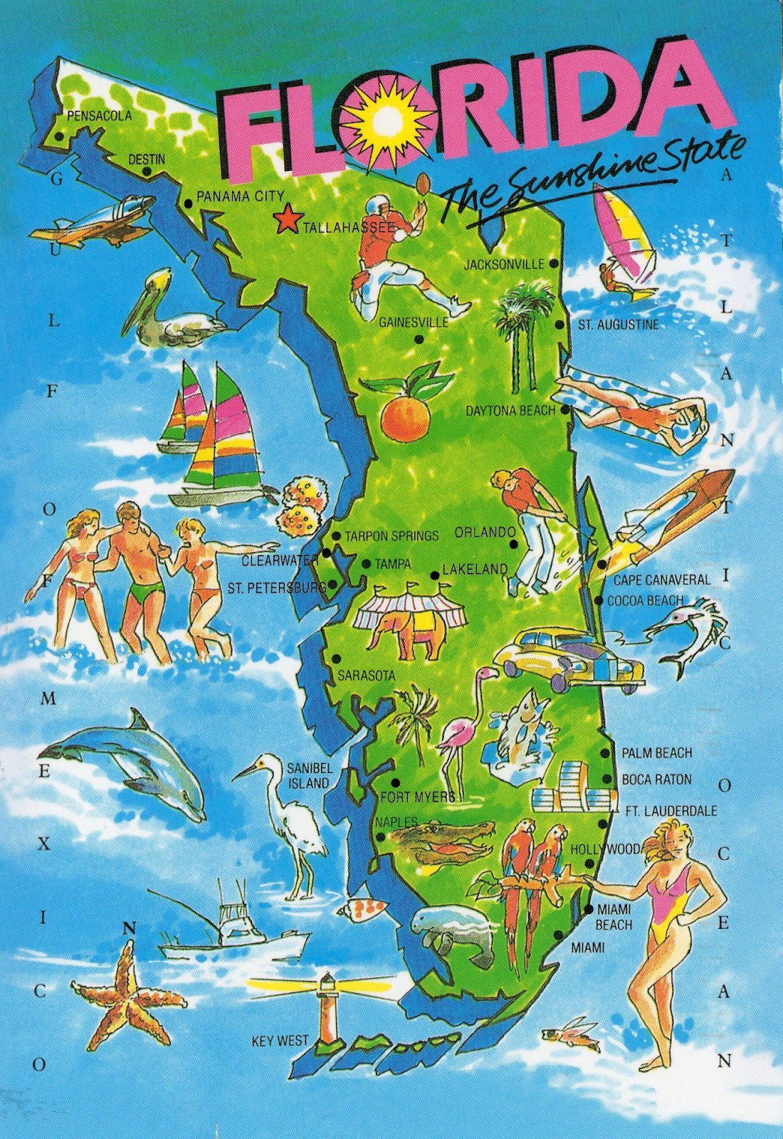 florida map for vacation