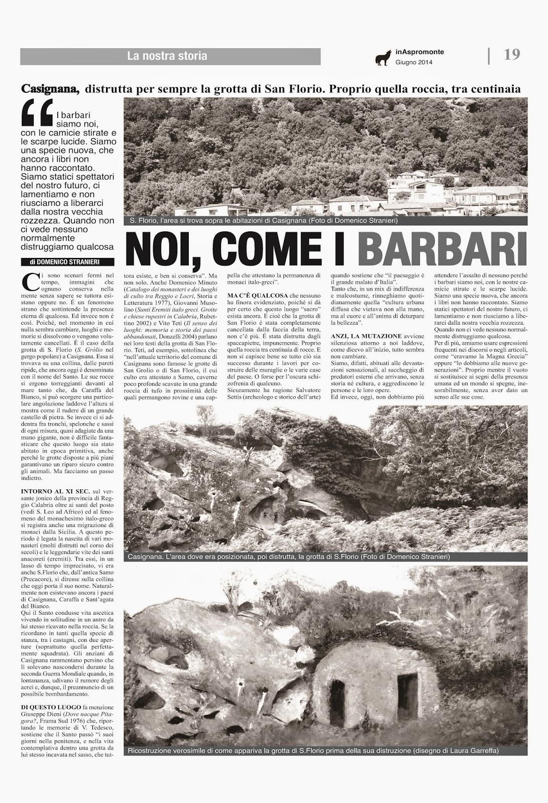 Pezzi stranieri la distruzione della grotta di san florio for Piani torreggianti