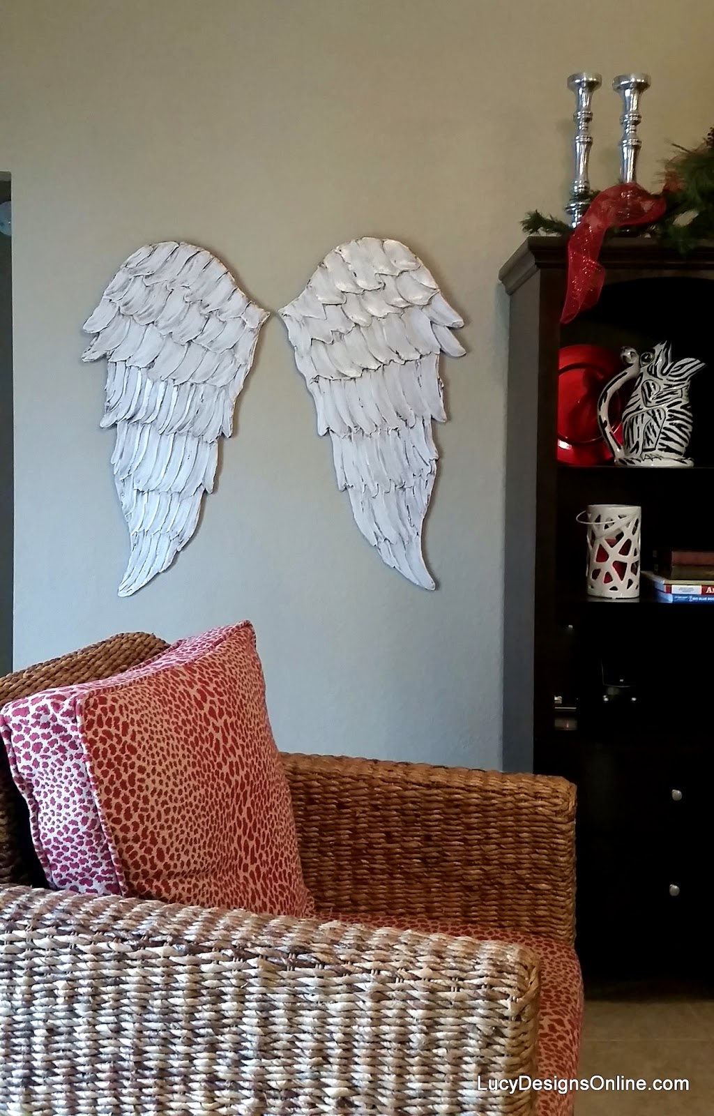 large angel wings wall art